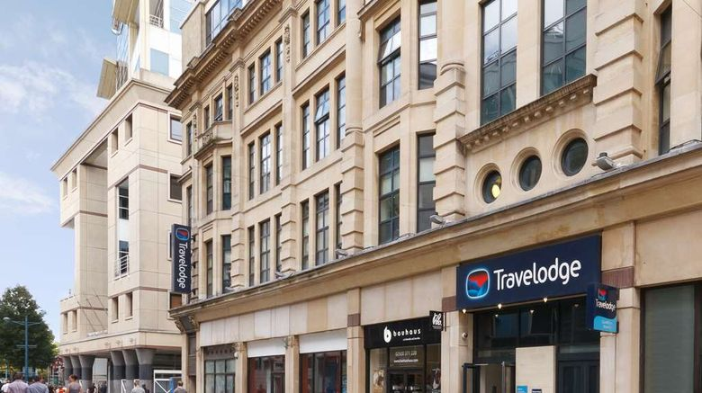 """Travelodge Cardiff Central Queen Street Exterior. Images powered by <a href=""""http://web.iceportal.com"""" target=""""_blank"""" rel=""""noopener"""">Ice Portal</a>."""
