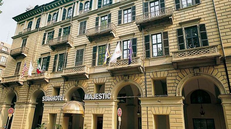 """Starhotels Majestic Exterior. Images powered by <a href=""""http://web.iceportal.com"""" target=""""_blank"""" rel=""""noopener"""">Ice Portal</a>."""