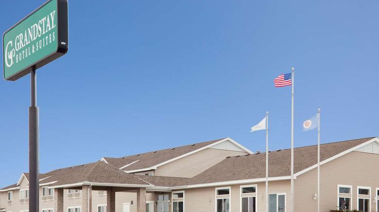 """GrandStay Hotel  and  Suites Waseca Exterior. Images powered by <a href=""""http://web.iceportal.com"""" target=""""_blank"""" rel=""""noopener"""">Ice Portal</a>."""