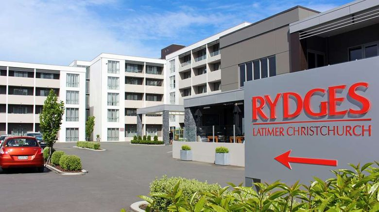 """Rydges Latimer Christchurch Exterior. Images powered by <a href=""""http://web.iceportal.com"""" target=""""_blank"""" rel=""""noopener"""">Ice Portal</a>."""