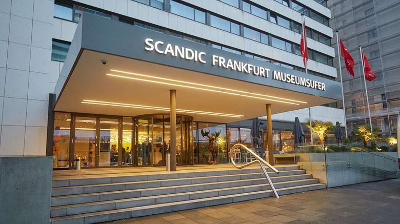 """Scandic Frankfurt Museumsufer Exterior. Images powered by <a href=""""http://web.iceportal.com"""" target=""""_blank"""" rel=""""noopener"""">Ice Portal</a>."""