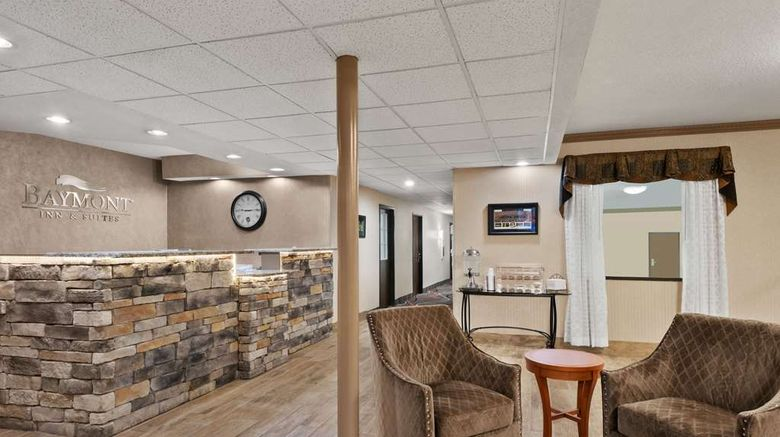 """Baymont Inn  and  Stes Belleville Airport Lobby. Images powered by <a href=""""http://web.iceportal.com"""" target=""""_blank"""" rel=""""noopener"""">Ice Portal</a>."""