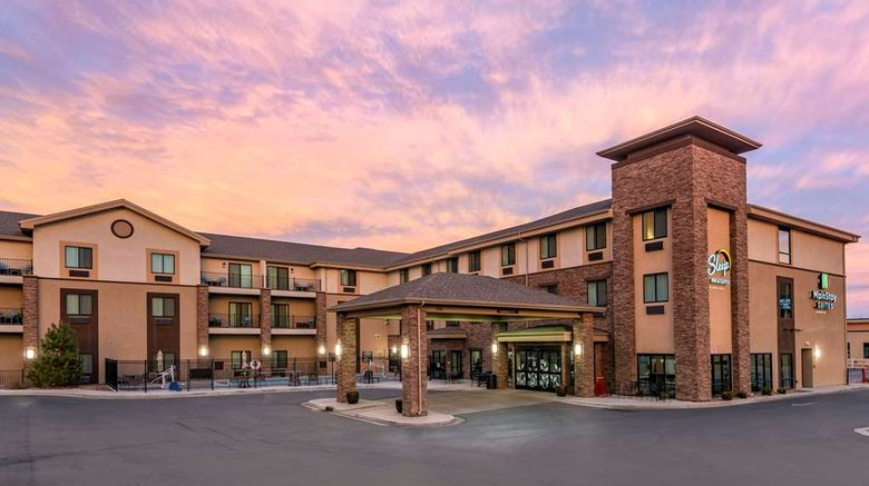 """MainStay Suites Moab Exterior. Images powered by <a href=""""http://web.iceportal.com"""" target=""""_blank"""" rel=""""noopener"""">Ice Portal</a>."""