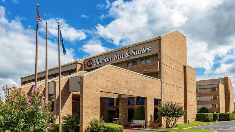 """Clarion Inn  and  Suites Tulsa Central Exterior. Images powered by <a href=""""http://web.iceportal.com"""" target=""""_blank"""" rel=""""noopener"""">Ice Portal</a>."""