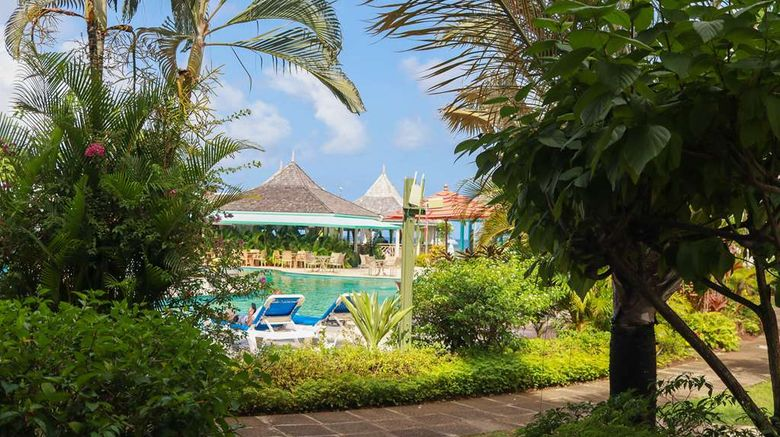 """Bay Gardens Beach Resort Exterior. Images powered by <a href=""""http://web.iceportal.com"""" target=""""_blank"""" rel=""""noopener"""">Ice Portal</a>."""