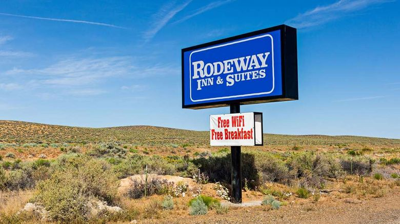"""Rodeway Inn  and  Suites Big Water Exterior. Images powered by <a href=""""http://web.iceportal.com"""" target=""""_blank"""" rel=""""noopener"""">Ice Portal</a>."""