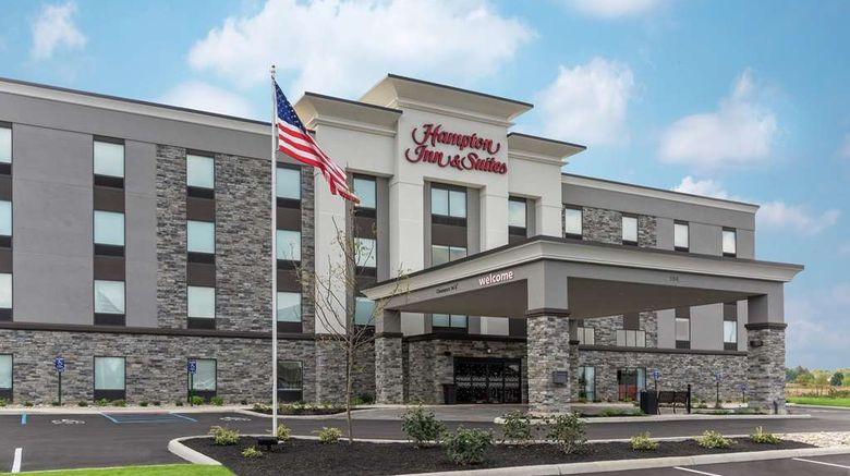 """Hampton Inn  and  Suites Xenia/Dayton Exterior. Images powered by <a href=""""http://web.iceportal.com"""" target=""""_blank"""" rel=""""noopener"""">Ice Portal</a>."""