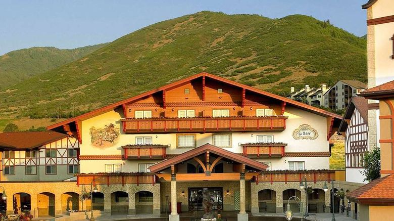 """Zermatt Utah Resort  and  Spa, A Trademark Exterior. Images powered by <a href=""""http://web.iceportal.com"""" target=""""_blank"""" rel=""""noopener"""">Ice Portal</a>."""