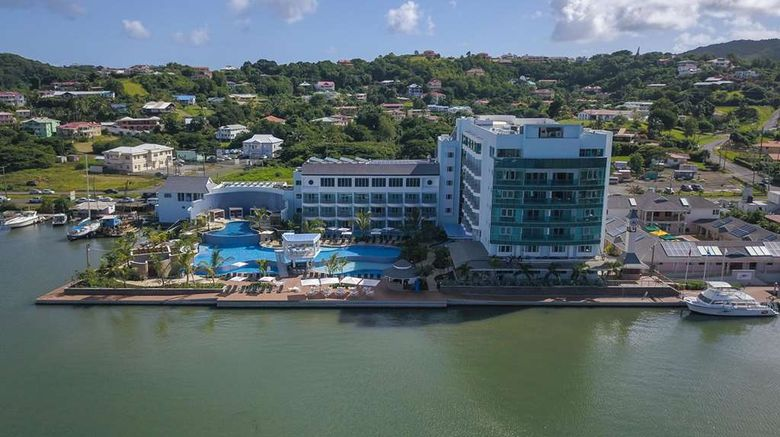 """Harbor Club St. Lucia, Curio Collection Exterior. Images powered by <a href=""""http://web.iceportal.com"""" target=""""_blank"""" rel=""""noopener"""">Ice Portal</a>."""