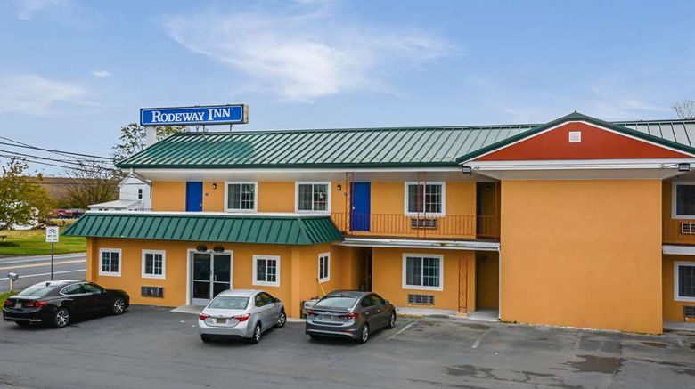 """Rodeway Inn Milford Exterior. Images powered by <a href=""""http://web.iceportal.com"""" target=""""_blank"""" rel=""""noopener"""">Ice Portal</a>."""