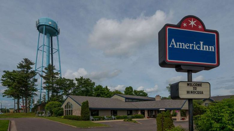 """AmericInn by Wyndham Minocqua Exterior. Images powered by <a href=""""http://web.iceportal.com"""" target=""""_blank"""" rel=""""noopener"""">Ice Portal</a>."""