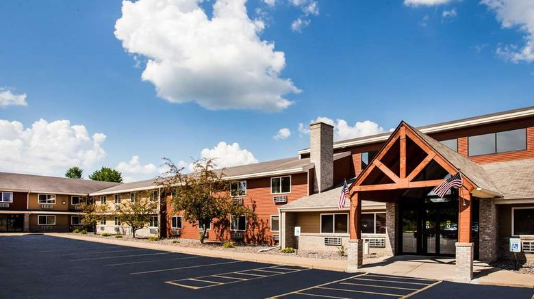 """AmericInn by Wyndham Menomonie Exterior. Images powered by <a href=""""http://web.iceportal.com"""" target=""""_blank"""" rel=""""noopener"""">Ice Portal</a>."""