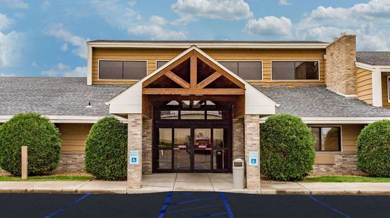 """AmericInn by Wyndham Dickinson Exterior. Images powered by <a href=""""http://web.iceportal.com"""" target=""""_blank"""" rel=""""noopener"""">Ice Portal</a>."""