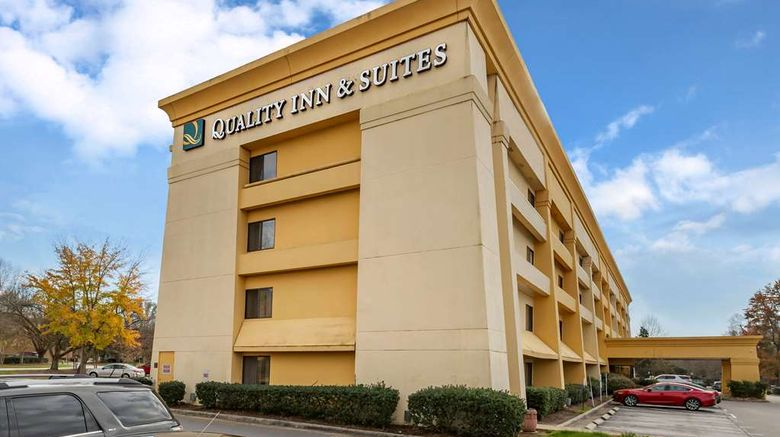"""Quality Inn  and  Suites Raleigh Airport Exterior. Images powered by <a href=""""http://web.iceportal.com"""" target=""""_blank"""" rel=""""noopener"""">Ice Portal</a>."""