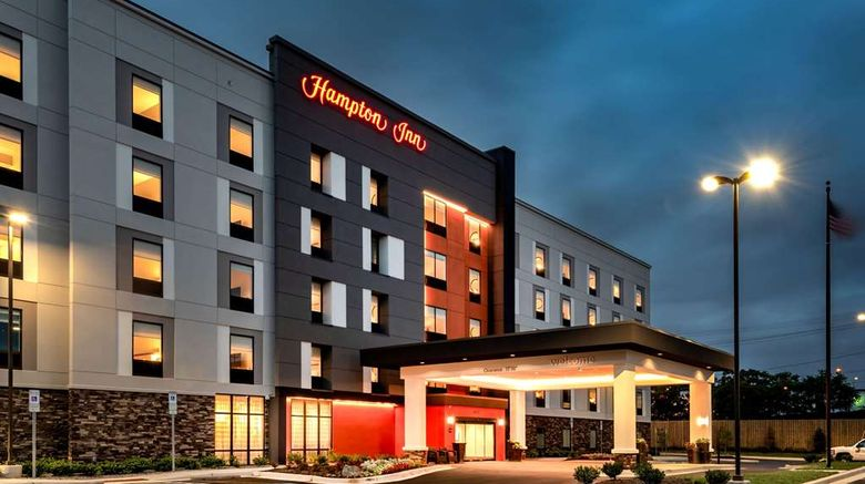 """Hampton Inn Bayview Campus Exterior. Images powered by <a href=""""http://web.iceportal.com"""" target=""""_blank"""" rel=""""noopener"""">Ice Portal</a>."""