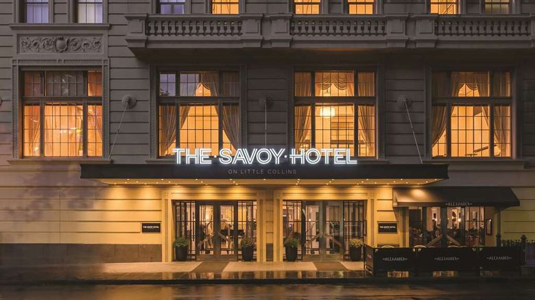 """The Savoy Hotel on Little Collins Exterior. Images powered by <a href=""""http://web.iceportal.com"""" target=""""_blank"""" rel=""""noopener"""">Ice Portal</a>."""