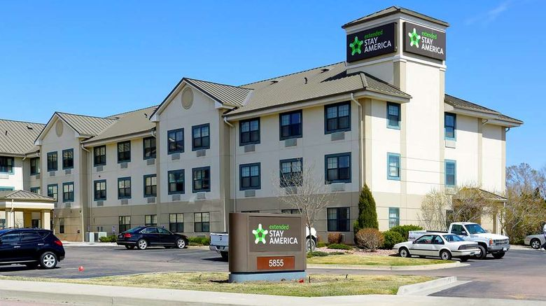 """Extended Stay America Stes Colorado Spri Exterior. Images powered by <a href=""""http://web.iceportal.com"""" target=""""_blank"""" rel=""""noopener"""">Ice Portal</a>."""