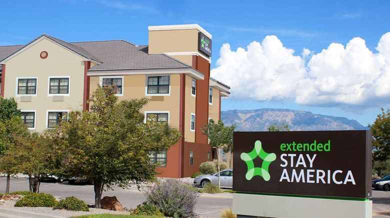 """Extended Stay America Stes Albuquerque Exterior. Images powered by <a href=""""http://web.iceportal.com"""" target=""""_blank"""" rel=""""noopener"""">Ice Portal</a>."""