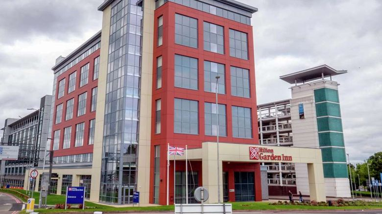 """Hilton Garden Inn Birmingham Airport Exterior. Images powered by <a href=""""http://web.iceportal.com"""" target=""""_blank"""" rel=""""noopener"""">Ice Portal</a>."""