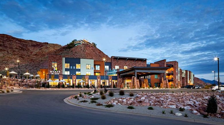 """Hyatt Place Moab Exterior. Images powered by <a href=""""http://web.iceportal.com"""" target=""""_blank"""" rel=""""noopener"""">Ice Portal</a>."""