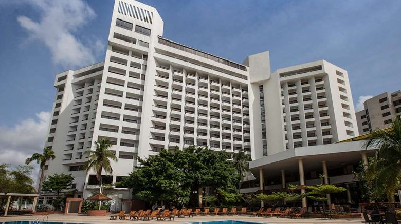"""Eko Hotel  and  Suites Exterior. Images powered by <a href=""""http://web.iceportal.com"""" target=""""_blank"""" rel=""""noopener"""">Ice Portal</a>."""