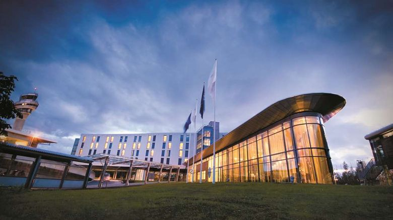 """Radisson Blu Hotel, Trondheim Airport Exterior. Images powered by <a href=""""http://web.iceportal.com"""" target=""""_blank"""" rel=""""noopener"""">Ice Portal</a>."""