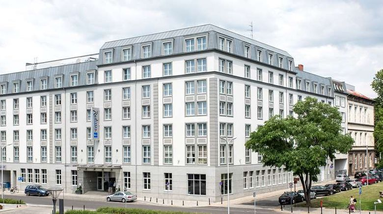 """Radisson Blu Hotel, Wroclaw Exterior. Images powered by <a href=""""http://web.iceportal.com"""" target=""""_blank"""" rel=""""noopener"""">Ice Portal</a>."""