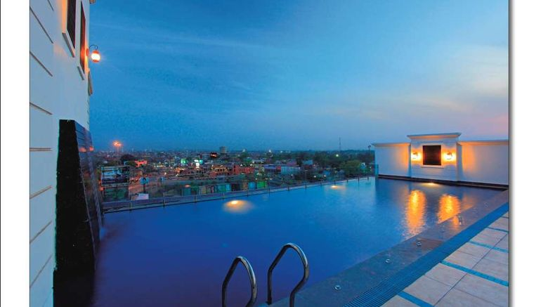 """Country Inn  and  Suite by Radisson Amritsar Pool. Images powered by <a href=""""http://web.iceportal.com"""" target=""""_blank"""" rel=""""noopener"""">Ice Portal</a>."""
