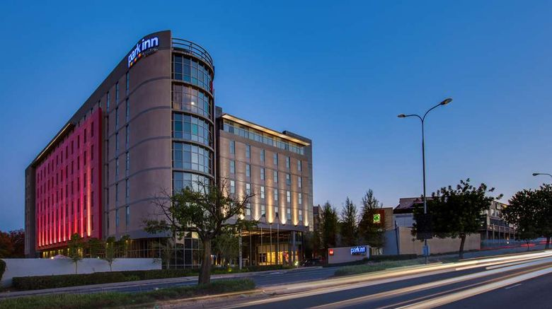 """Park Inn Sandton Exterior. Images powered by <a href=""""http://web.iceportal.com"""" target=""""_blank"""" rel=""""noopener"""">Ice Portal</a>."""