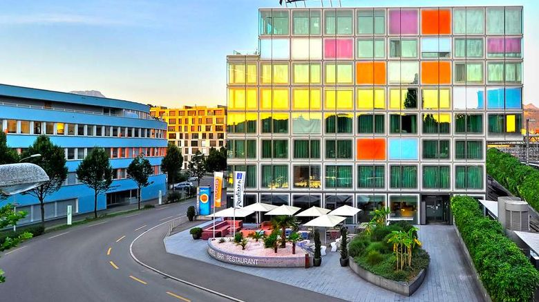 """Radisson Blu Hotel Lucerne Exterior. Images powered by <a href=""""http://web.iceportal.com"""" target=""""_blank"""" rel=""""noopener"""">Ice Portal</a>."""