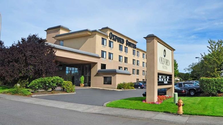 """Oxford Suites Portland - Jantzen Beach Exterior. Images powered by <a href=""""http://web.iceportal.com"""" target=""""_blank"""" rel=""""noopener"""">Ice Portal</a>."""