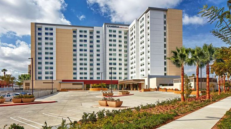 """Cambria Hotel  and  Suites Anaheim Resort Exterior. Images powered by <a href=""""http://web.iceportal.com"""" target=""""_blank"""" rel=""""noopener"""">Ice Portal</a>."""