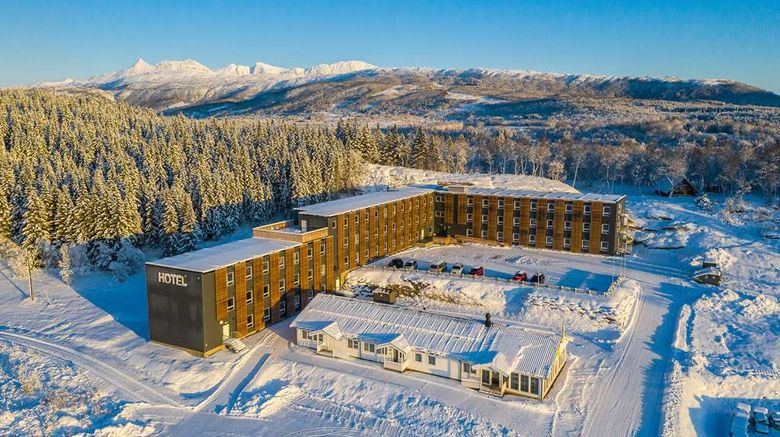 """Sure Hotel by BW Harstad Narvik Airport Exterior. Images powered by <a href=""""http://web.iceportal.com"""" target=""""_blank"""" rel=""""noopener"""">Ice Portal</a>."""