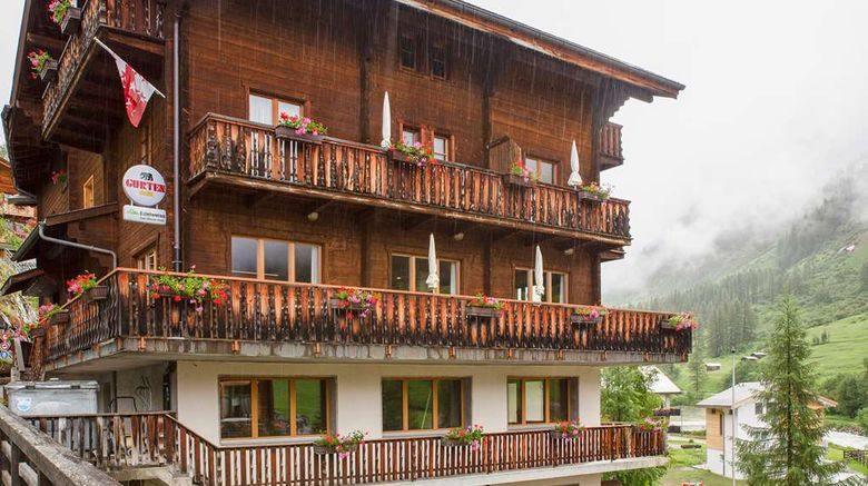 """Edelweiss Hotel Exterior. Images powered by <a href=""""http://web.iceportal.com"""" target=""""_blank"""" rel=""""noopener"""">Ice Portal</a>."""
