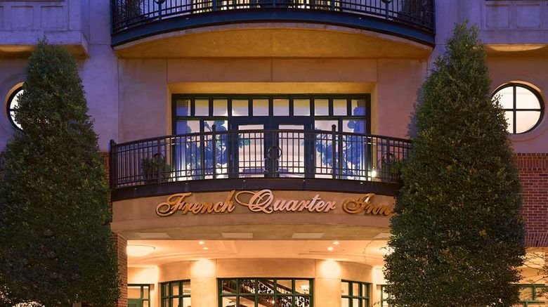 """French Quarter Inn Exterior. Images powered by <a href=""""http://web.iceportal.com"""" target=""""_blank"""" rel=""""noopener"""">Ice Portal</a>."""