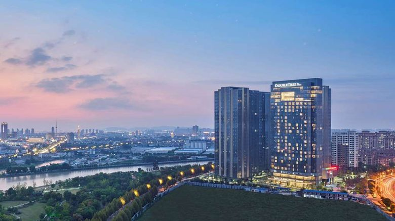 """DoubleTree by Hilton Suzhou Wujiang Exterior. Images powered by <a href=""""http://web.iceportal.com"""" target=""""_blank"""" rel=""""noopener"""">Ice Portal</a>."""