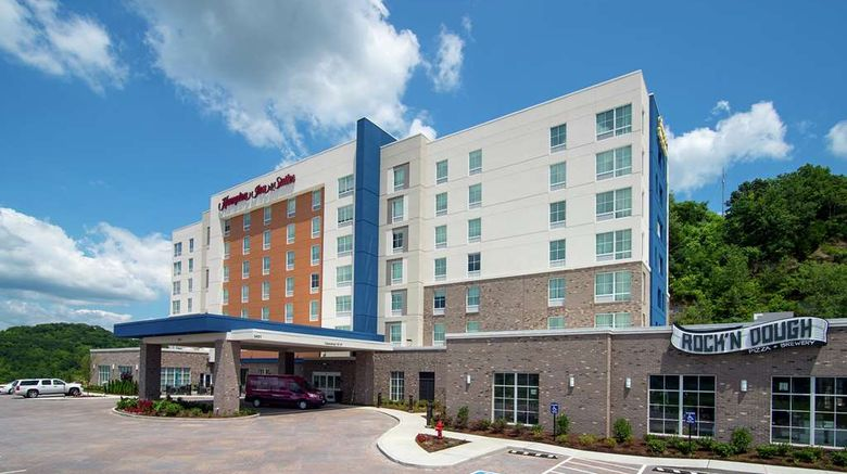 """Hampton Inn/Stes Nashville North Skyline Exterior. Images powered by <a href=""""http://web.iceportal.com"""" target=""""_blank"""" rel=""""noopener"""">Ice Portal</a>."""