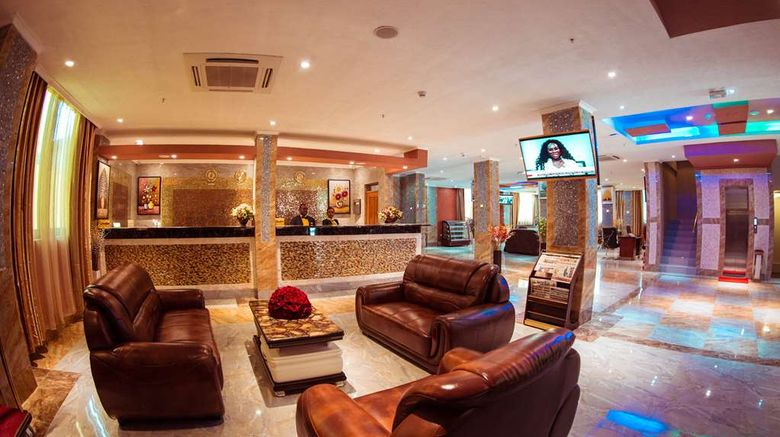 """Tiffany Diamond Hotel Makunganya Lobby. Images powered by <a href=""""http://web.iceportal.com"""" target=""""_blank"""" rel=""""noopener"""">Ice Portal</a>."""