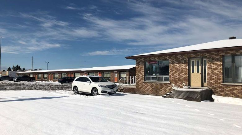 """Travelodge by Wyndham Cochrane South Exterior. Images powered by <a href=""""http://web.iceportal.com"""" target=""""_blank"""" rel=""""noopener"""">Ice Portal</a>."""