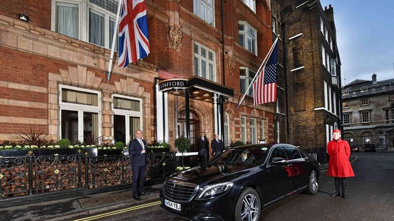"""The Stafford London Exterior. Images powered by <a href=""""http://web.iceportal.com"""" target=""""_blank"""" rel=""""noopener"""">Ice Portal</a>."""