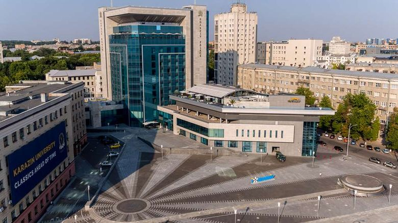 """Kharkiv Palace Hotel Exterior. Images powered by <a href=""""http://web.iceportal.com"""" target=""""_blank"""" rel=""""noopener"""">Ice Portal</a>."""