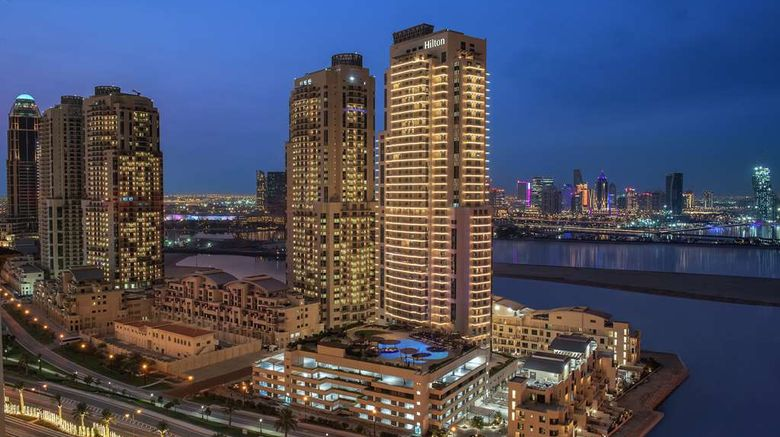 """Hilton Doha The Pearl Hotel  and  Residences Exterior. Images powered by <a href=""""http://web.iceportal.com"""" target=""""_blank"""" rel=""""noopener"""">Ice Portal</a>."""