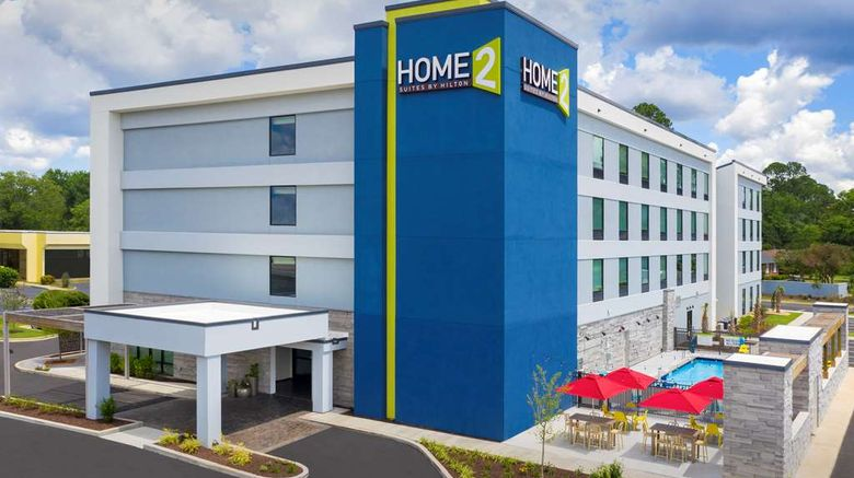 """Home2 Suites Southeast Fort Jackson Exterior. Images powered by <a href=""""http://web.iceportal.com"""" target=""""_blank"""" rel=""""noopener"""">Ice Portal</a>."""