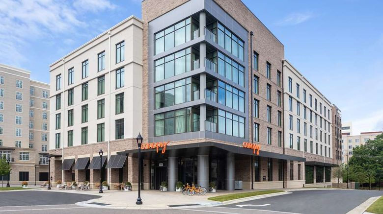 """Canopy by Hilton Charlotte Southpark Exterior. Images powered by <a href=""""http://web.iceportal.com"""" target=""""_blank"""" rel=""""noopener"""">Ice Portal</a>."""