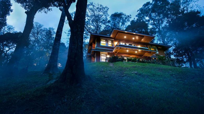 """Coorg Wilderness Resort Exterior. Images powered by <a href=""""http://web.iceportal.com"""" target=""""_blank"""" rel=""""noopener"""">Ice Portal</a>."""