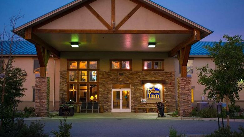 """Riverside Inn Travelodge by Wyndham Exterior. Images powered by <a href=""""http://web.iceportal.com"""" target=""""_blank"""" rel=""""noopener"""">Ice Portal</a>."""