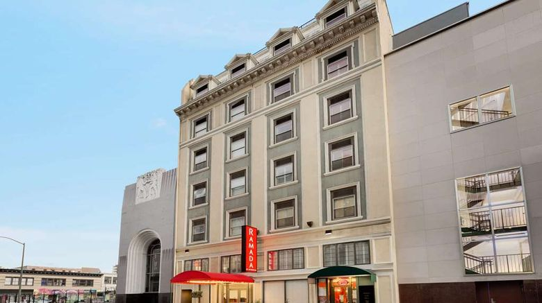 """Ramada by Wyndham Oakland Dwntn City Ctr Exterior. Images powered by <a href=""""http://web.iceportal.com"""" target=""""_blank"""" rel=""""noopener"""">Ice Portal</a>."""