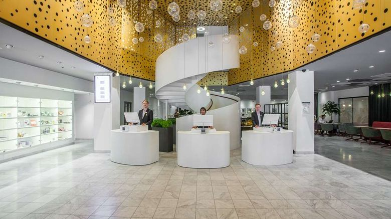 """Hotel C Stockholm Lobby. Images powered by <a href=""""http://web.iceportal.com"""" target=""""_blank"""" rel=""""noopener"""">Ice Portal</a>."""