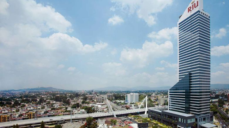"""Hotel Riu Plaza Guadalajara Exterior. Images powered by <a href=""""http://web.iceportal.com"""" target=""""_blank"""" rel=""""noopener"""">Ice Portal</a>."""