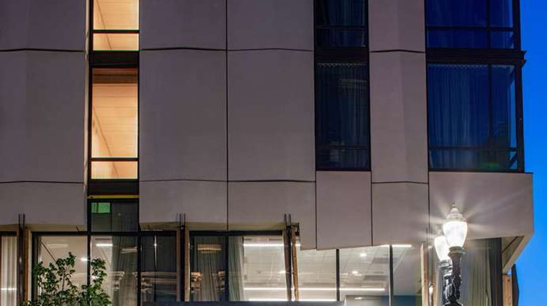 """Hyatt Centric Downtown Portland Exterior. Images powered by <a href=""""http://web.iceportal.com"""" target=""""_blank"""" rel=""""noopener"""">Ice Portal</a>."""